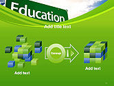 Education Just Ahead Green Road Sign PowerPoint Template#17