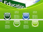 Education Just Ahead Green Road Sign PowerPoint Template#18