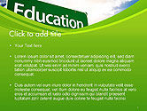 Education Just Ahead Green Road Sign PowerPoint Template#2