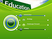 Education Just Ahead Green Road Sign PowerPoint Template#3
