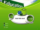 Education Just Ahead Green Road Sign PowerPoint Template#6