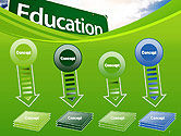 Education Just Ahead Green Road Sign PowerPoint Template#8