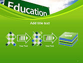 Education Just Ahead Green Road Sign PowerPoint Template#9