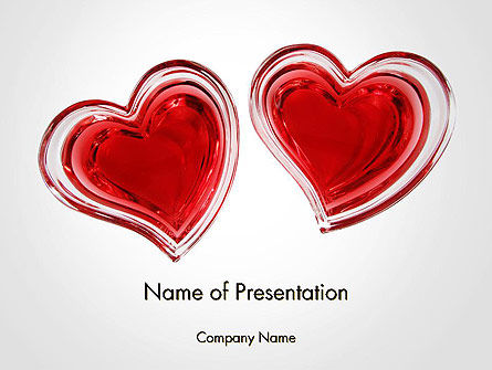 Holiday/Special Occasion: Two Hearts PowerPoint Template #14223