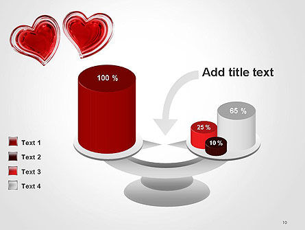 Two Hearts PowerPoint Template Slide 10