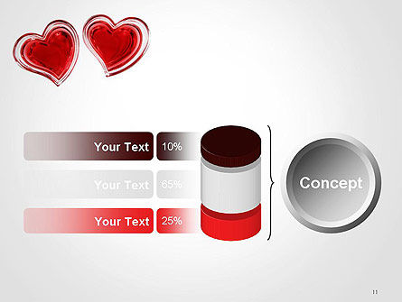 Two Hearts PowerPoint Template Slide 11