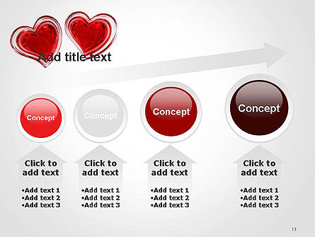 Two Hearts PowerPoint Template Slide 13