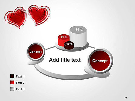 Two Hearts PowerPoint Template Slide 16