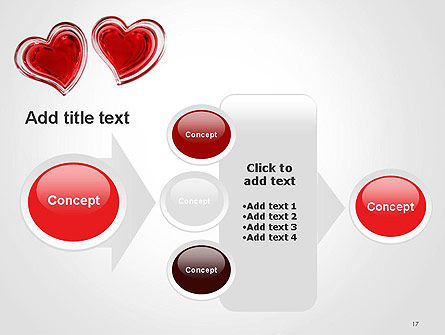 Two Hearts PowerPoint Template Slide 17