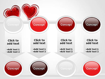 Two Hearts PowerPoint Template Slide 18
