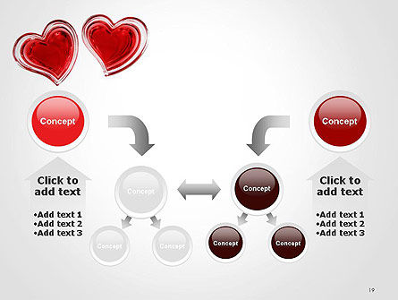 Two Hearts PowerPoint Template Slide 19