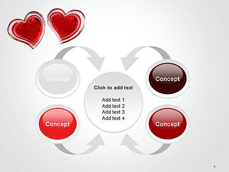 Two Hearts PowerPoint Template Slide 6