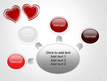 Two Hearts PowerPoint Template Slide 7