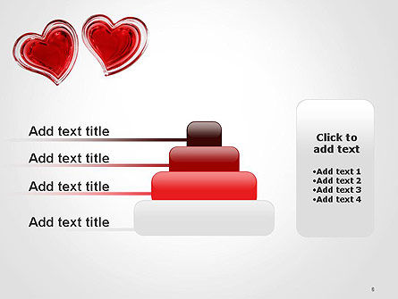 Two Hearts PowerPoint Template Slide 8