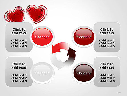 Two Hearts PowerPoint Template Slide 9