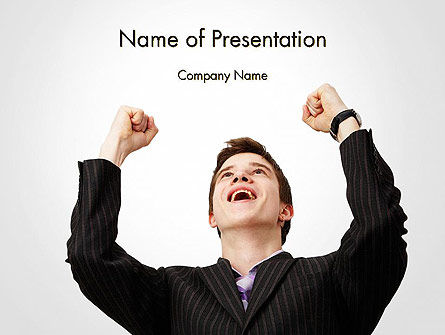 People: Lucky Man PowerPoint Template #14224