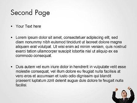 Lucky Man PowerPoint Template, Slide 2, 14224, People — PoweredTemplate.com