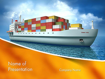 Sea Freight PowerPoint Template, 14225, Cars and Transportation — PoweredTemplate.com