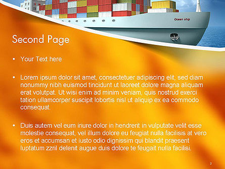 Sea Freight PowerPoint Template, Slide 2, 14225, Cars and Transportation — PoweredTemplate.com