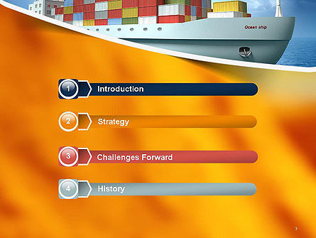 Sea Freight PowerPoint Template, Slide 3, 14225, Cars and Transportation — PoweredTemplate.com