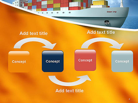 Sea Freight PowerPoint Template, Slide 4, 14225, Cars and Transportation — PoweredTemplate.com