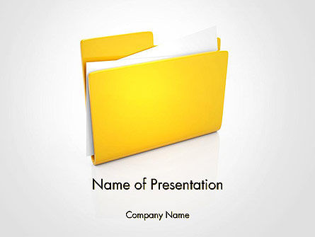 Document Folder PowerPoint Template, 14226, Business — PoweredTemplate.com