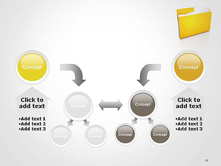 Document Folder PowerPoint Template Slide 19