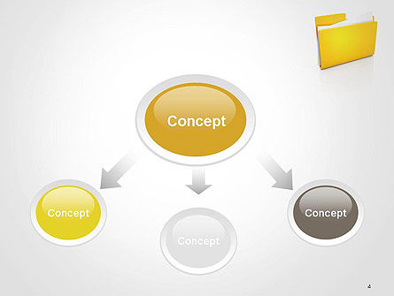 Document Folder PowerPoint Template, Slide 4, 14226, Business — PoweredTemplate.com
