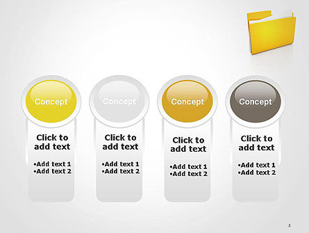 Document Folder PowerPoint Template Slide 5