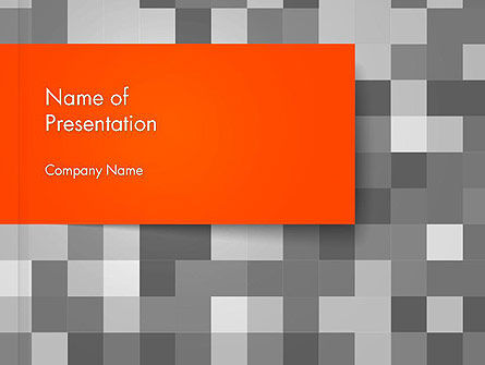 Mosaic Background of Gray Squares PowerPoint Template
