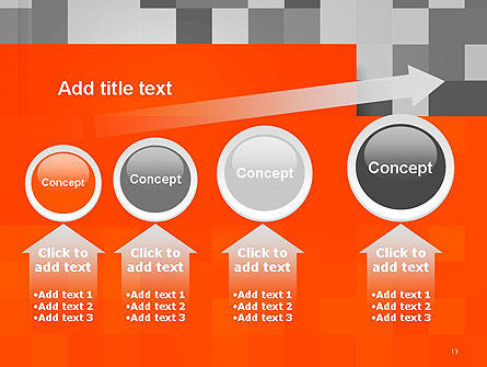 Mosaic Background of Gray Squares PowerPoint Template Slide 13