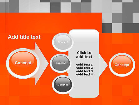 Mosaic Background of Gray Squares PowerPoint Template Slide 17