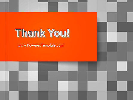 Mosaic Background of Gray Squares PowerPoint Template Slide 20
