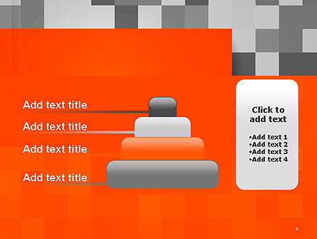 Mosaic Background of Gray Squares PowerPoint Template Slide 8