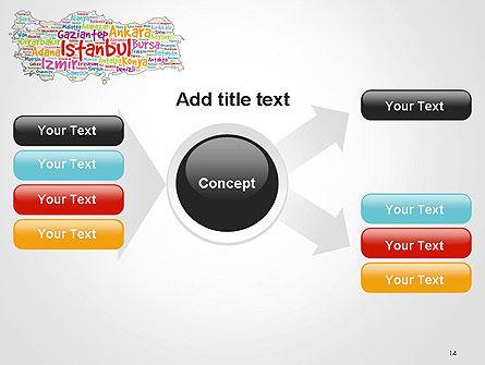 Turkish Cities Word Cloud PowerPoint Template Slide 14