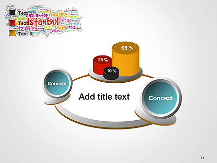 Turkish Cities Word Cloud PowerPoint Template Slide 16
