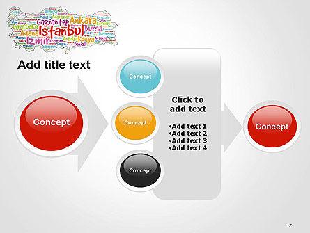 Turkish Cities Word Cloud PowerPoint Template Slide 17