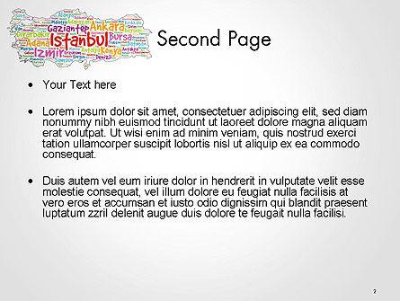 Turkish Cities Word Cloud PowerPoint Template, Slide 2, 14228, Flags/International — PoweredTemplate.com