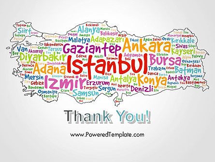 Turkish Cities Word Cloud PowerPoint Template Slide 20
