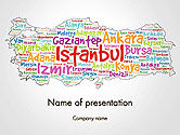 Flags/International: Turkse Steden Word Cloud PowerPoint Template #14228