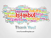 Turkish Cities Word Cloud PowerPoint Template#20