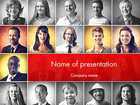 People: Happy and Smiling Diverse People PowerPoint Template #14230