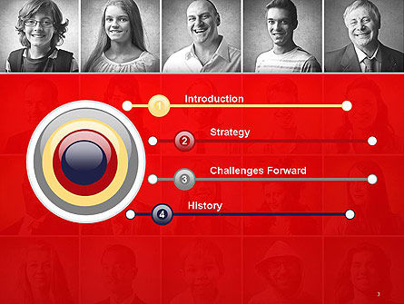 Happy and Smiling Diverse People PowerPoint Template, Slide 3, 14230, People — PoweredTemplate.com