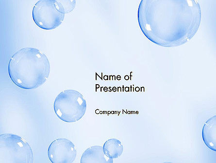 Water Bubbles PowerPoint Template, 14231, Abstract/Textures — PoweredTemplate.com