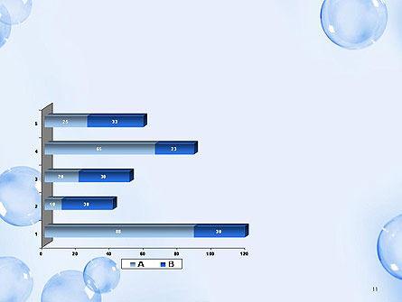 Water Bubbles PowerPoint Template Slide 11
