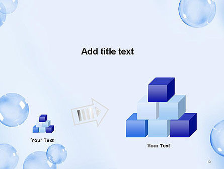 Water Bubbles PowerPoint Template Slide 13