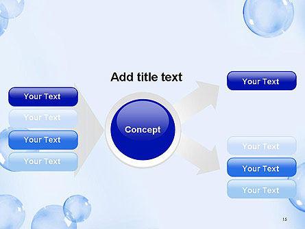 Water Bubbles PowerPoint Template Slide 15