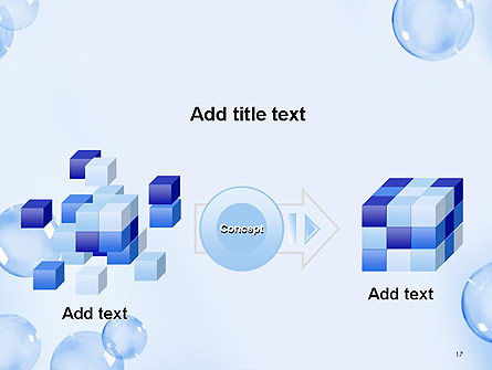 Water Bubbles PowerPoint Template Slide 17
