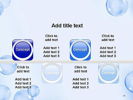 Water Bubbles PowerPoint Template Slide 18