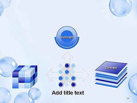 Water Bubbles PowerPoint Template Slide 19